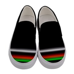 Colorful Neon Background Images Women s Canvas Slip Ons