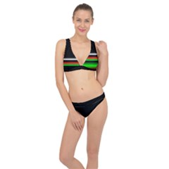 Colorful Neon Background Images Classic Banded Bikini Set