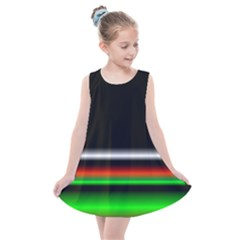 Colorful Neon Background Images Kids  Summer Dress by Samandel