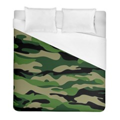 Green Military Vector Pattern Texture Duvet Cover (full/ Double Size) by Samandel