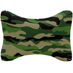 Green Military Vector Pattern Texture Seat Head Rest Cushion