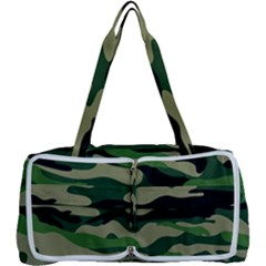 Green Military Vector Pattern Texture Multi Function Bag