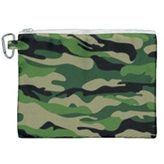 Green Military Vector Pattern Texture Canvas Cosmetic Bag (xxl) by Samandel