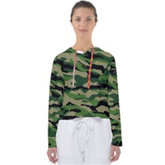Green Military Vector Pattern Texture Women s Slouchy Sweat