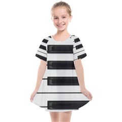 Keybord Piano Kids  Smock Dress