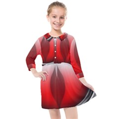 Red Eye Kids  Quarter Sleeve Shirt Dress by Samandel