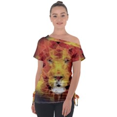 Fractal Lion Tie Up Tee