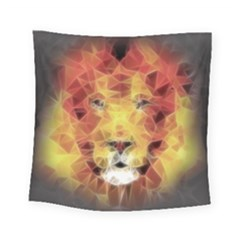 Fractal Lion Square Tapestry (small)