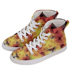 Fractal Lion Women s Hi Top Skate Sneakers by Samandel
