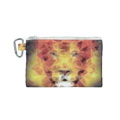 Fractal Lion Canvas Cosmetic Bag (small)