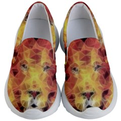 Fractal Lion Kid s Lightweight Slip Ons