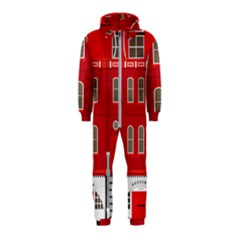 Red House Hooded Jumpsuit (kids)