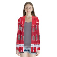 Red House Drape Collar Cardigan by Samandel