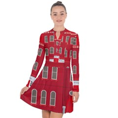 Red House Long Sleeve Panel Dress