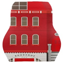 Red House Car Seat Back Cushion