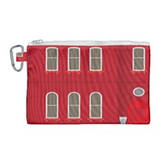 Red House Canvas Cosmetic Bag (large) by Samandel