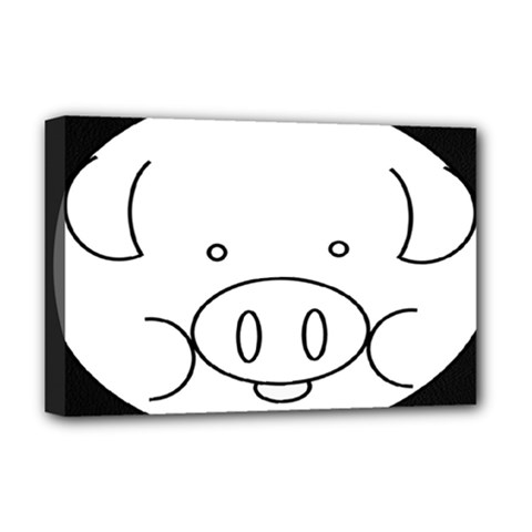 Pig Logo Deluxe Canvas 18  X 12  (stretched) by Samandel