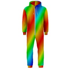 Background Diagonal Refraction Hooded Jumpsuit (men)  by Samandel