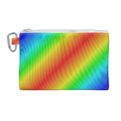 Background Diagonal Refraction Canvas Cosmetic Bag (large)