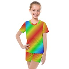 Background Diagonal Refraction Kids  Mesh Tee And Shorts Set