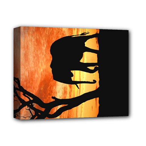 Family Of African Elephants Deluxe Canvas 14  X 11  (stretched) by Samandel