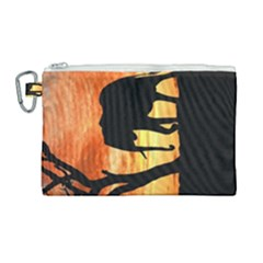 Family Of African Elephants Canvas Cosmetic Bag (large)