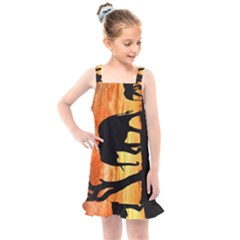 Family Of African Elephants Kids  Overall Dress
