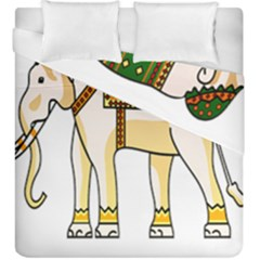Elephant Indian Animal Design Duvet Cover Double Side (king Size)