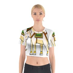Elephant Indian Animal Design Cotton Crop Top
