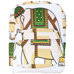 Elephant Indian Animal Design Full Print Backpack
