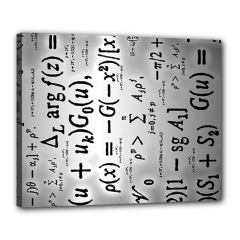 Science Formulas Canvas 20  X 16  (stretched) by Samandel
