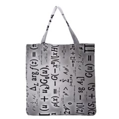 Science Formulas Grocery Tote Bag by Samandel