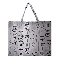Science Formulas Zipper Large Tote Bag by Samandel