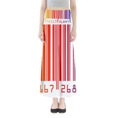 Colorful Gradient Barcode Full Length Maxi Skirt