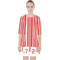 Colorful Gradient Barcode Pocket Dress
