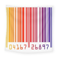 Colorful Gradient Barcode Square Tapestry (large)
