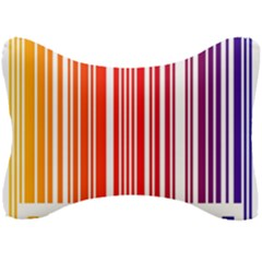 Colorful Gradient Barcode Seat Head Rest Cushion