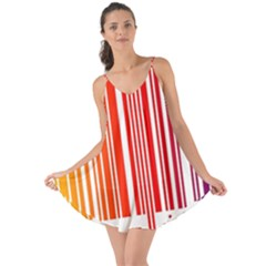 Colorful Gradient Barcode Love The Sun Cover Up