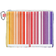 Colorful Gradient Barcode Canvas Cosmetic Bag (xxl)
