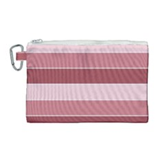 Striped Shapes Wide Stripes Horizontal Geometric Canvas Cosmetic Bag (large)