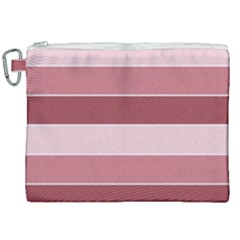 Striped Shapes Wide Stripes Horizontal Geometric Canvas Cosmetic Bag (xxl)