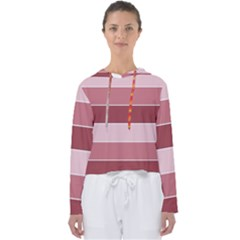 Striped Shapes Wide Stripes Horizontal Geometric Women s Slouchy Sweat