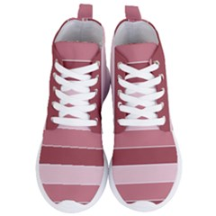 Striped Shapes Wide Stripes Horizontal Geometric Women s Lightweight High Top Sneakers