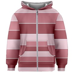 Striped Shapes Wide Stripes Horizontal Geometric Kids Zipper Hoodie Without Drawstring