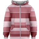 Striped Shapes Wide Stripes Horizontal Geometric Kids Zipper Hoodie Without Drawstring View1