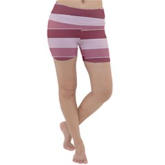 Striped Shapes Wide Stripes Horizontal Geometric Lightweight Velour Yoga Shorts