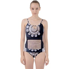 Vintage Payphone Cut Out Top Tankini Set