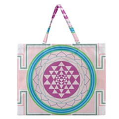 Mandala Design Arts Indian Zipper Large Tote Bag