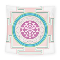 Mandala Design Arts Indian Square Tapestry (large)