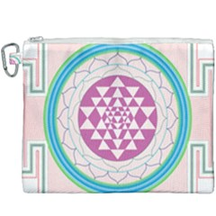 Mandala Design Arts Indian Canvas Cosmetic Bag (xxxl) by Samandel